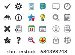information icons. delete and... | Shutterstock .eps vector #684398248