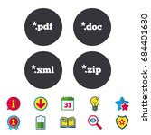 document icons. file extensions ... | Shutterstock .eps vector #684401680