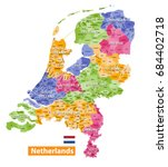 netherlands high detailed local ... | Shutterstock .eps vector #684402718