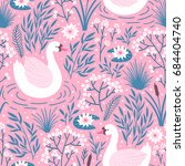 vector seamless pattern with... | Shutterstock .eps vector #684404740