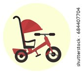 Flat Red Kids Tricycle With...
