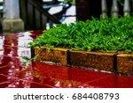 the grass   brick and tiles   Shutterstock . vector #684408793