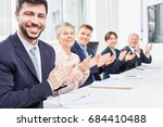 business team clap in seminar... | Shutterstock . vector #684410488