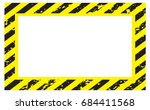 border yellow and black color.... | Shutterstock .eps vector #684411568