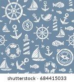 nautical background  seamless ...   Shutterstock .eps vector #684415033