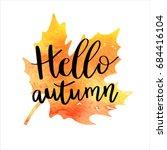 Hello Autumn Hand Lettering...