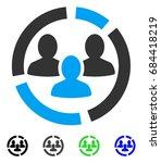demography diagram flat vector... | Shutterstock .eps vector #684418219