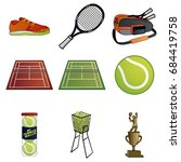 tennis items | Shutterstock .eps vector #684419758