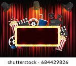 theater sign or cinema sign on...   Shutterstock .eps vector #684429826