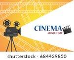 movie cinema poster design.... | Shutterstock .eps vector #684429850