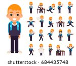 school boy student pupil in... | Shutterstock .eps vector #684435748