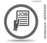 job search flat icon design | Shutterstock .eps vector #684436369