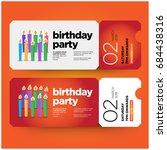 happy tenth birthday invitation ... | Shutterstock .eps vector #684438316