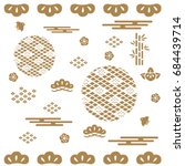 japanese pattern background... | Shutterstock .eps vector #684439714