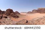 panoramic view of the wadi rum... | Shutterstock . vector #684441550
