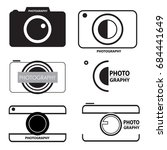 photo camera icons | Shutterstock .eps vector #684441649