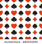 seamless pattern with card suit ... | Shutterstock .eps vector #684442696