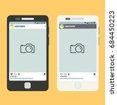 flat vector smartphone with... | Shutterstock .eps vector #684450223
