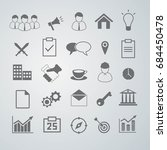 a set of easy business icons... | Shutterstock .eps vector #684450478