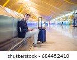 young man waiting listening... | Shutterstock . vector #684452410