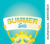summer sale vector poster.... | Shutterstock .eps vector #684453814