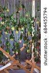 flower photo zone  wooden...   Shutterstock . vector #684455794