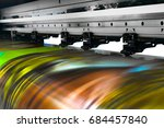 large printer format inkjet... | Shutterstock . vector #684457840