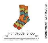 handdrawn vector doodle logo... | Shutterstock .eps vector #684459010