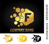 hexagon letter f logo design. | Shutterstock .eps vector #684462640