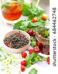 summer cold tea composition...   Shutterstock . vector #684462748
