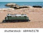 model electric locomotive in... | Shutterstock . vector #684465178