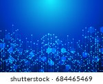 abstract futuristic circuit... | Shutterstock .eps vector #684465469