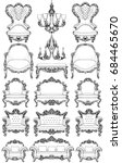 baroque furniture set with... | Shutterstock .eps vector #684465670