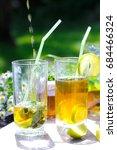summer sunny composition of...   Shutterstock . vector #684466324