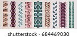 ethnic brushes. african ethnic... | Shutterstock .eps vector #684469030