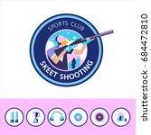 vector logo of the sport club.... | Shutterstock .eps vector #684472810