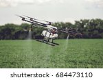 agriculture drone fly to... | Shutterstock . vector #684473110