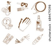 a set of contour icons with... | Shutterstock .eps vector #684479398