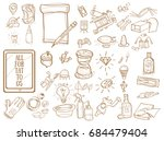 a set of contour icons with... | Shutterstock .eps vector #684479404