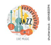 vector poster for the jazz... | Shutterstock .eps vector #684480094