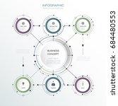 vector infographic 3d circle... | Shutterstock .eps vector #684480553