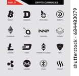 cripto currency logo set ... | Shutterstock .eps vector #684483079