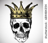 king of death. portrait of a...   Shutterstock .eps vector #684484354