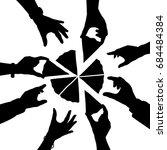 editable vector silhouette of... | Shutterstock .eps vector #684484384
