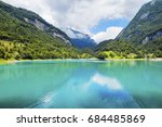 tenno lake in the mountains of... | Shutterstock . vector #684485869