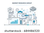market research group. analysis ... | Shutterstock .eps vector #684486520