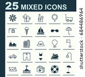 tourism icons set. collection... | Shutterstock .eps vector #684486964