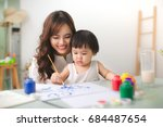 happy family mother and...   Shutterstock . vector #684487654
