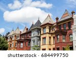 row houses in the washington dc ... | Shutterstock . vector #684499750