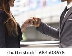 business people of a... | Shutterstock . vector #684503698